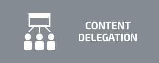 content delegation